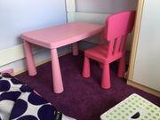Spieltisch mit Stuhl pink rosa