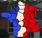 Fensterbild Handarbeit aus Glas Frankreich