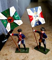 2 neuw Zinnsoldaten Fahnenträger Preußen