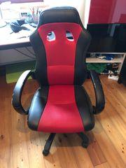Schreibtischstuhl Gamerstuhl Racebüro schwarz-rot