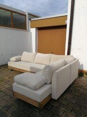 Couchgarnitur Naturholz