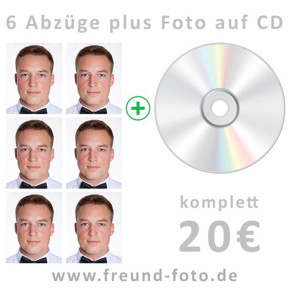 Passbilder als Abzug inklusive Datei