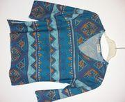 Shirt Gorgette türkis-bunt Gr 36