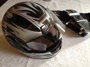 Motorradhelm Probiker mit Handschuhen Größe