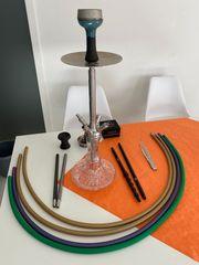 Shisha-Set mit Mundstücke und Köpfe