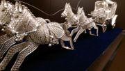 Pferde Kutsche Silber 925 HAND