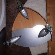 Deckenlampe modern Holz Metall 3