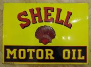 SHELL Motor Oil Emailschild 50x70