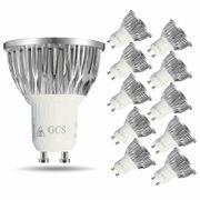 10x Aluminium GU10 Reflektor 5W