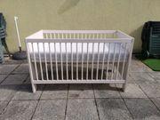 Gitterbett Kinderbett mit Umbauseiten von