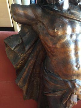 Kunst, Gemälde, Plastik - Barocke Holzskulptur - Segnender Christus triumphiert