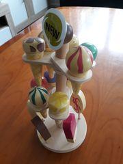 Zubehör Kinderladen Eisständer mit Eis
