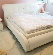 Doppelbett Ehebett mit Lattenrost Kunstleder