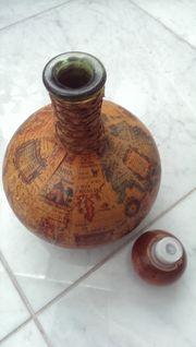 Flasche mit Weltkarte Vintage Deko