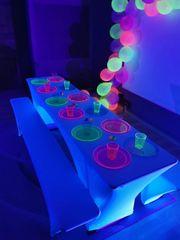LED Schwarzlicht UV Partylicht mieten