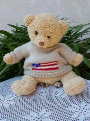 Neuwertiger niedlicher kuscheliger Kinder-Rucksack Teddy