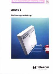 Bedienungsanleitung Telefonanlage Telekom Amex I