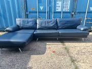 Echtes Leder Couch L Form