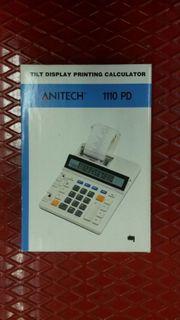 Anitech 1110 PD Tischrechner druckend