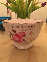 Vase Porzellan Les Roses