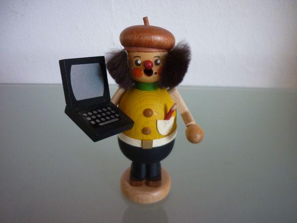 Kaden Straco Räuchermännchen mit Laptop