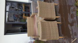 Gartenmöbel - Rattan-Sitzgruppe mit Tisch für den
