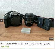 Canon Spiegelreflex EOS 1000D mit