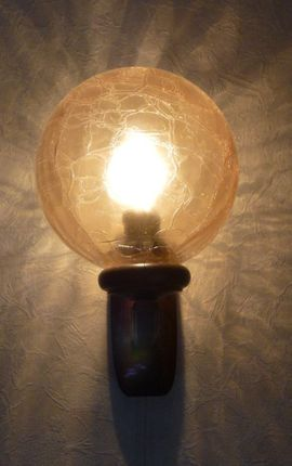 Wandlampe mit gelber Glaskugel u: Kleinanzeigen aus Freudenberg - Rubrik Lampen
