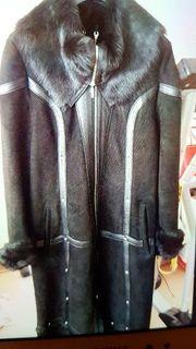 Echter Leder- Pelz Mantel