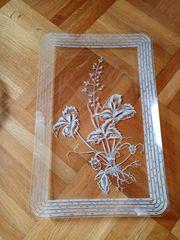 Glastablett 18x32 cm