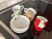 6 Espressotassen mit Untertassen