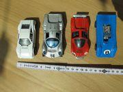 Politoys - 4 kleine alte Spielzeugautos
