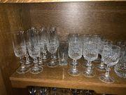 Kristallglas-Weingläser Sektgläser Whiskygläser etc zu