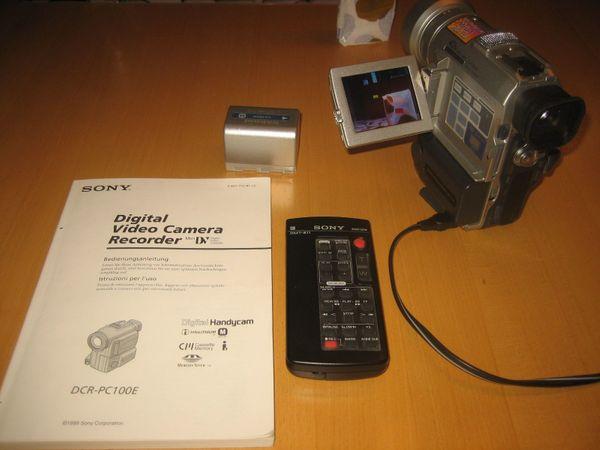 Sony Handycam MiniDV Camcorder DCR-PC100E