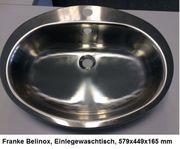 Franke Belinox - Einlegewaschtisch - Waschbecken - Neu