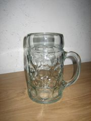 Bierkrug Maß aus Glas 1