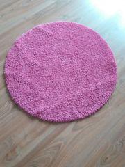 Runder Teppich in pink Rundteppich