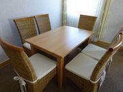 Essgruppe mit Tisch und 6