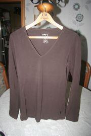 Only Damen Shirt langarm braun