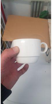 Kaffeetassen aus Knochenporzellan Gastronomie