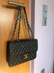 Chanel Tasche Vintage Schwarz Leder