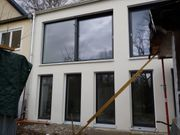 2 moderne neue Holz Alu