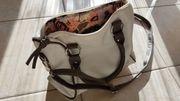 Schöne Damenhandtasche braun beige
