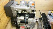 2Zylinder Dieselmotor Lombardini mit Hydraulickpumpe