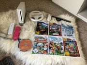 Nintendo Wii 2Controller 7 Spiele