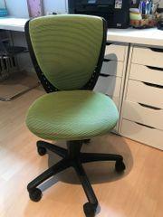 Schreibtischstuhl grün Kind Schule