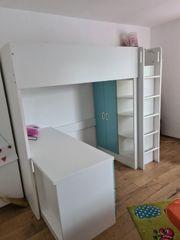 Kinder Hochbett Schreibtisch Schrank