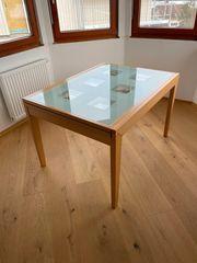 Schöner ausziehbarer Esstisch Glastisch mit