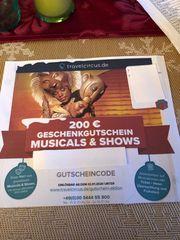 200 Geschenkgutschein Musicals Shows