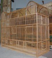Prachtvoller Vogelkäfig aus Holz - Einzigartig
